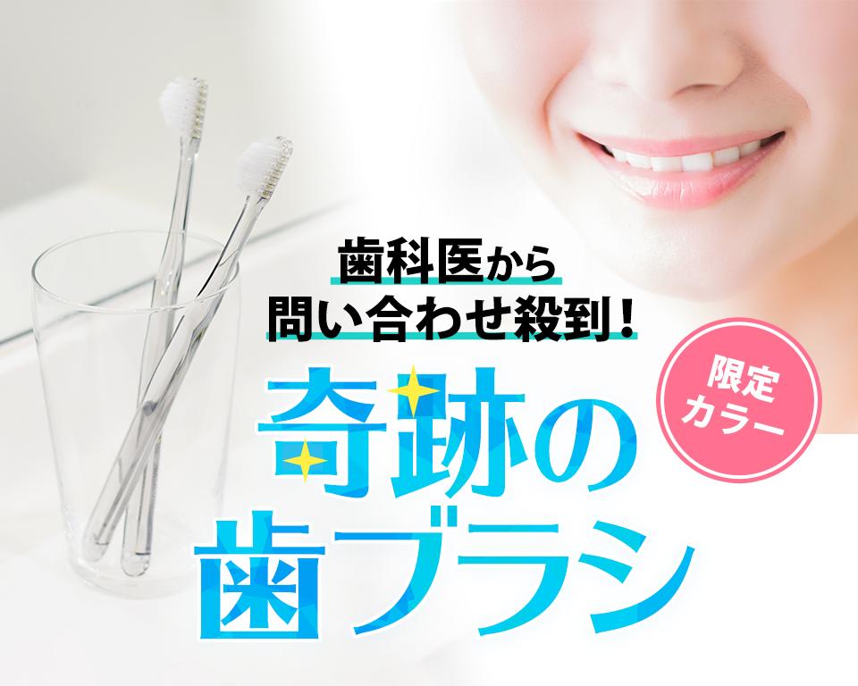 歯科医から問い合わせ殺到の奇跡の歯ブラシ